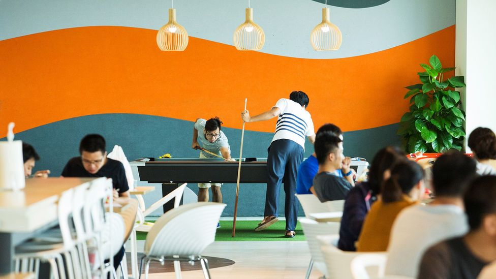 Many offices over the last decade have created recreational or rest spaces in a bid to mitigate employee stress (Credit: Getty Images)