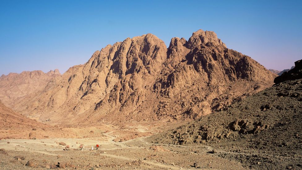Mount Sinai, where Moses received the Ten Commandments, is the Sinai Trail's most iconic landmark (Credit: Jon Arnold/Getty Images)