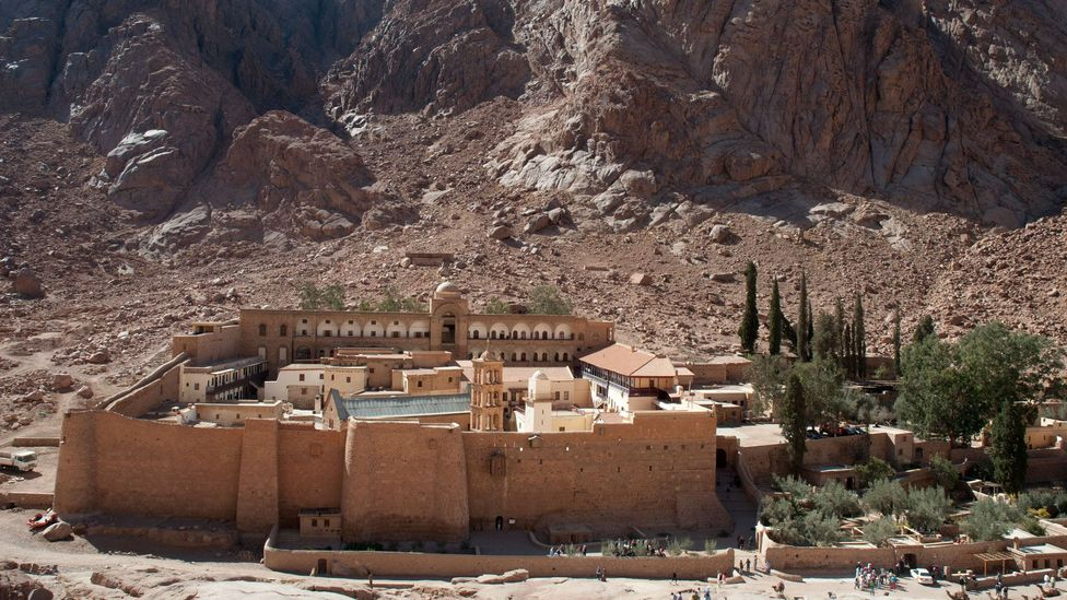 The Unesco-listed St Catherine's Monastery is believed to house the Burning Bush, from which God revealed himself to Moses (Credit: travelgame/Getty Images)