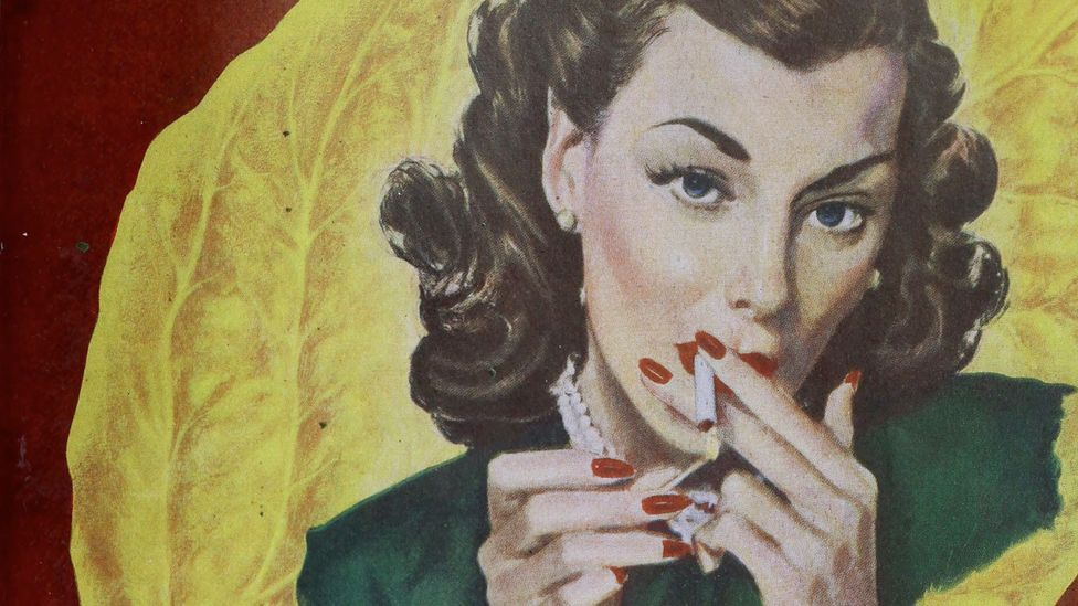 Since the mid-20th Century, cigarettes have been marketed to women as a symbol of empowerment (Credit: Lucky Strike/Alamy)
