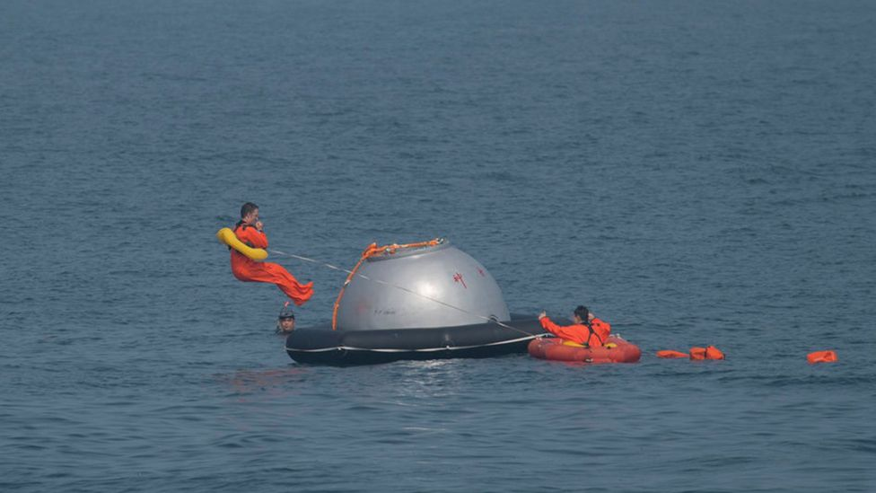 The programme has seen some Esa astronauts do splashdown training with their Chinese counterparts (Credit: Getty Images)