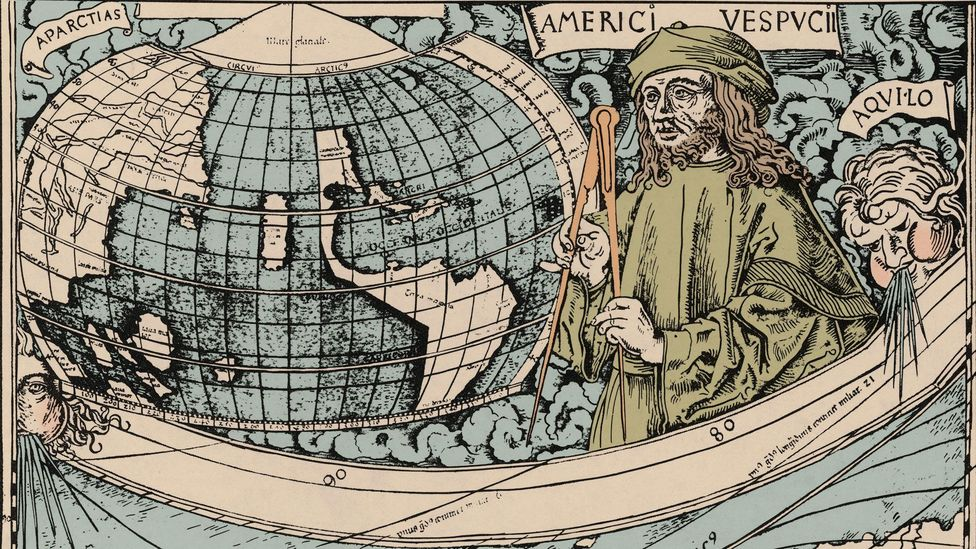 America was named for Italian explorer Amerigo Vespucci, who claims to have landed on the continent before Christopher Columbus (Credit: Science History Images/Alamy)