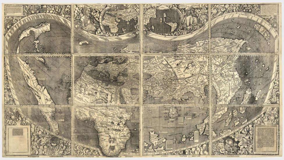 The Waldseemüller map depicted the New World for the first time (Credit: The Picture Art Collection/Alamy)