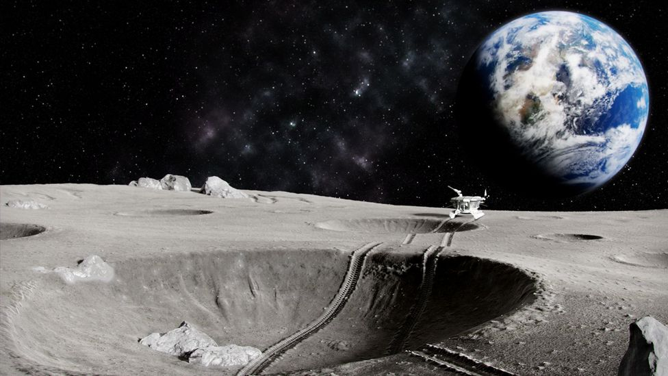 Earth's nations can explore the Moon but none of them are allowed to lay claim to it (Credit: Getty Images)