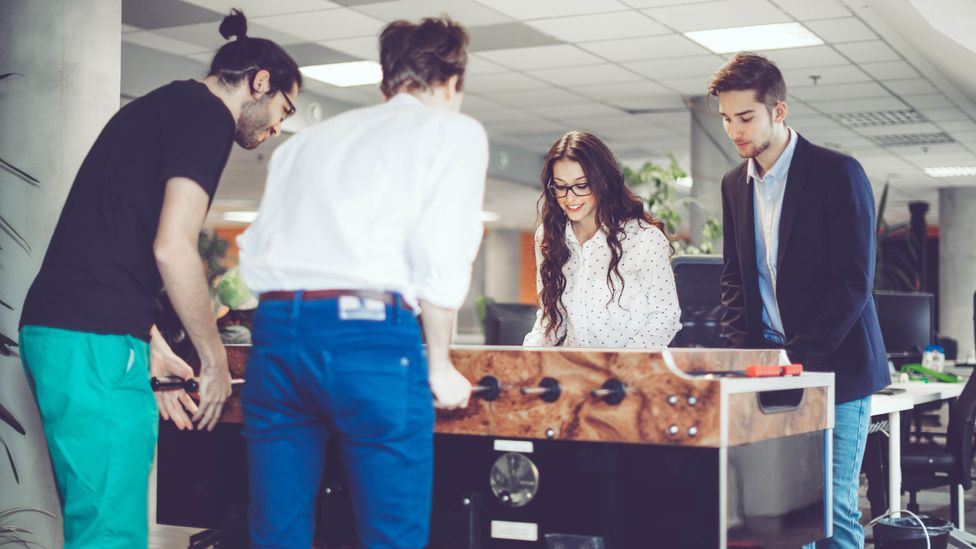 Investment in perks like social events, cafes and table football can make your workplace much more fun but won't help workers cover their living costs (Credit: Getty Images)