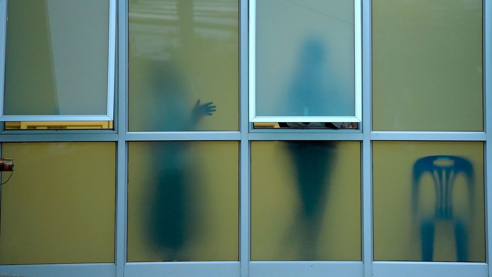 People are pictured at the Chiang Rai hospital where the boys have been brought after their ordeal (Credit: Getty Images)