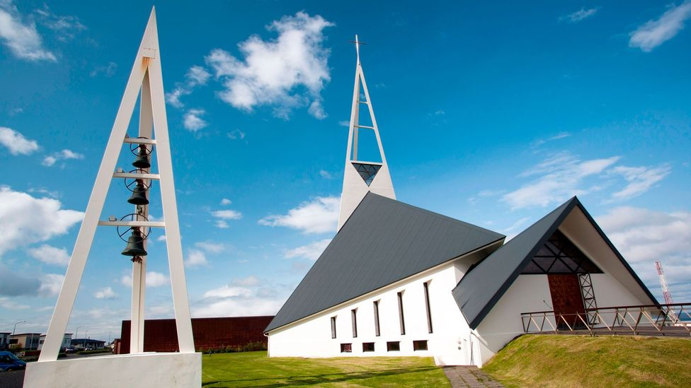 The skeletal spires and jagged, asymmetric lines of Iceland's churches echo the mythology and landscape of the country (Credit: Alamy)