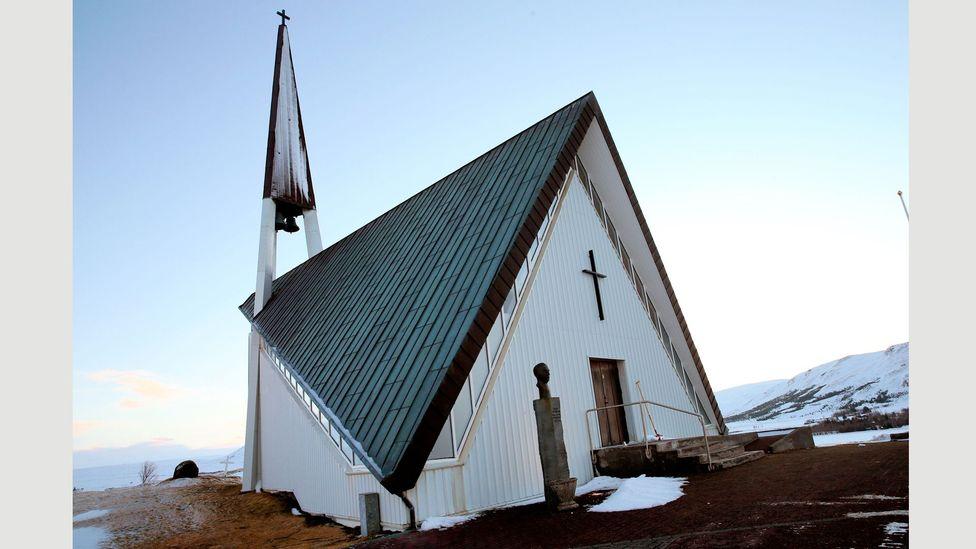 The angular Mosfellskirkja, also known as Mosfells church, is a contemporary gem (Credit: Alamy)