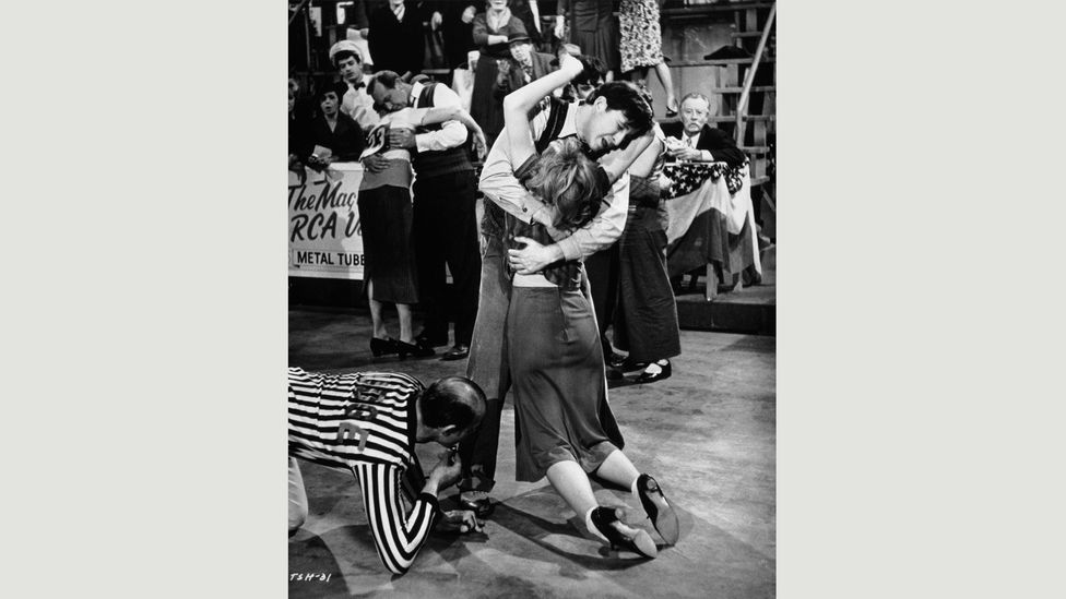 They Shoot Horses, Don't They? was based on a 1935 novel about a Depression-era dance marathon, in which exhausted contestants try to stay upright for weeks (Credit: Alamy)