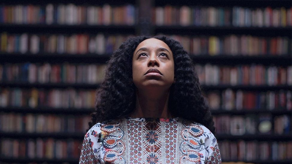 This image of the musician Corinne Bailey Rae represents Gates's aim to celebrate 'beautiful powerful women' in the exhibition (Credit: David Sampson / Courtesy of Theaster Gates)