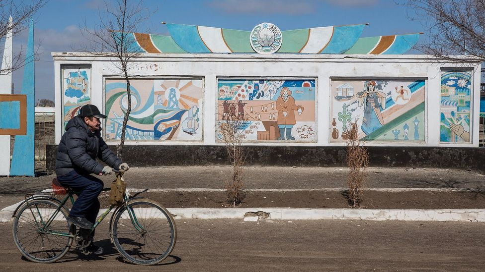 In Moynaq, Uzbekistan, which also once had a thriving fishing industry on the Aral Sea, the story has been very different (Credit: Taylor Weidman)