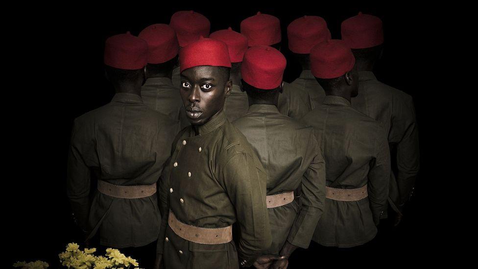Omar Victor Diop, Thiaroye 1944 (Credit: Omar Victor Diop / MAGNIN-A)