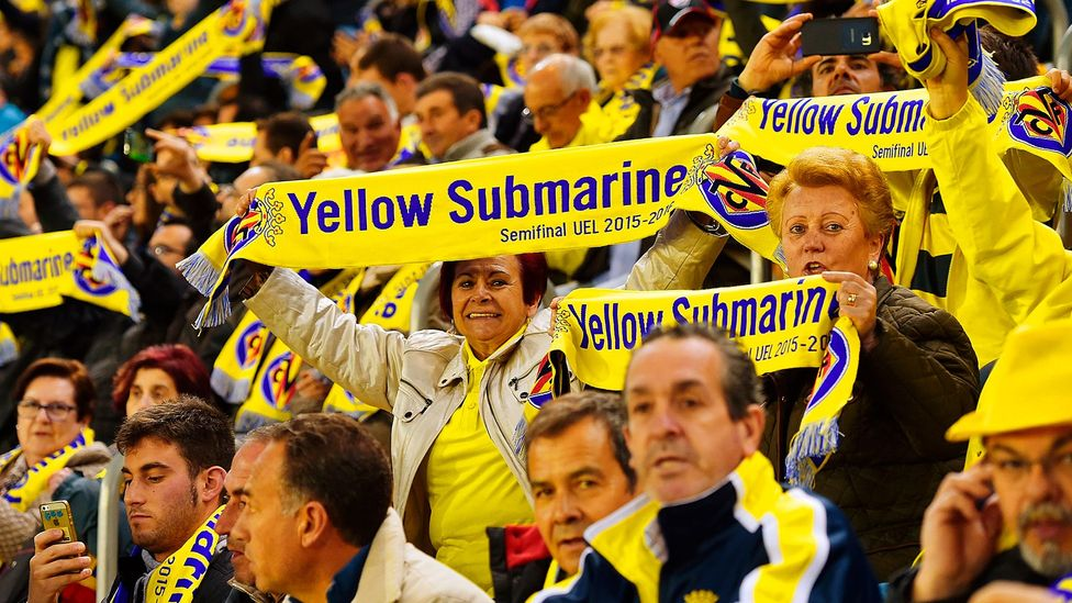 Villarreal Football Club in Spain has adopted the nickname Yellow Submarine based on their home colours (Credit: Getty Images)