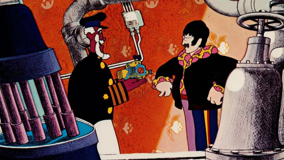 A resident of Pepperland, Old Fred, travels to Liverpool in a yellow submarine to enlist the help of The Beatles in fighting the Blue Meanies (Credit: Alamy)