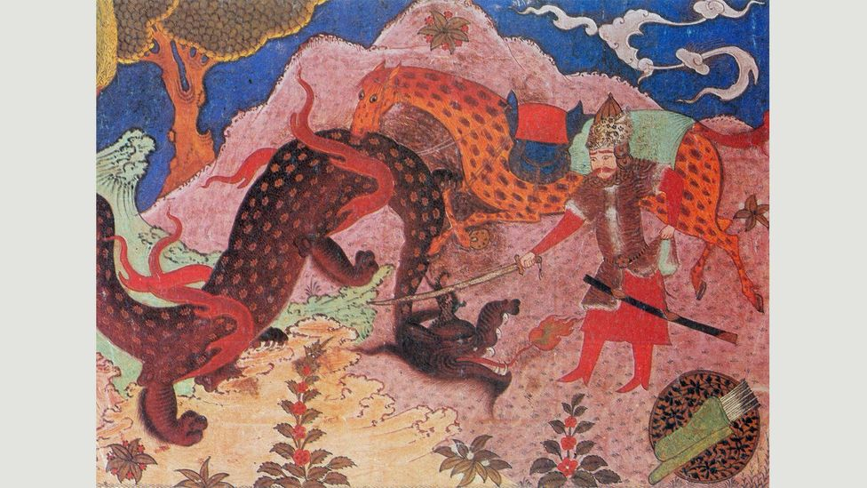 The Shahnameh's hero Rostam battles with demons, rescues kings and undergoes seven trials (Credit: Alamy)