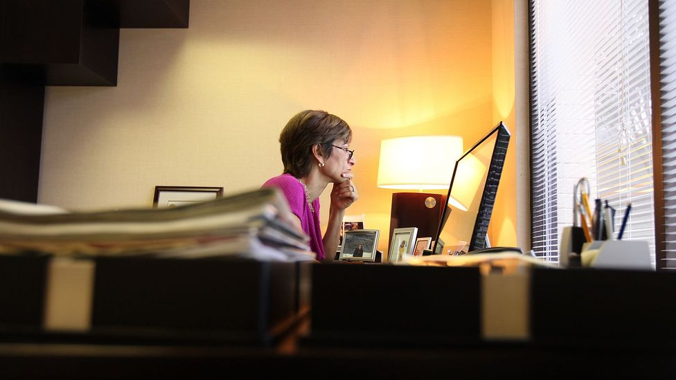 We so often use email at our work computers in the confines of office buildings, so we often associate email with work and drudgery (Credit: The Washington Post via Getty Images)