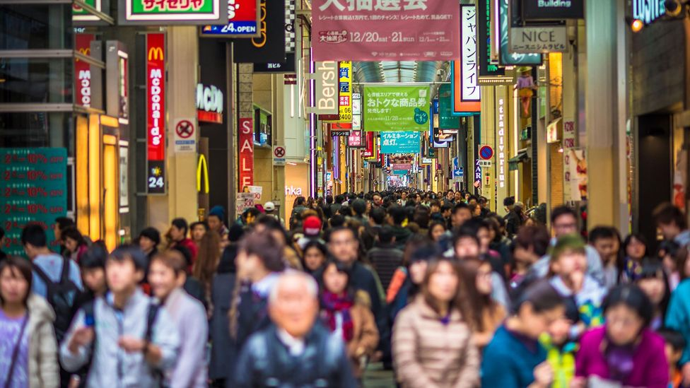 Japan has some of the most densely packed cities in the world, and citizens make a point to respect other people's space (Credit: Konstantin Kalishko/Alamy)