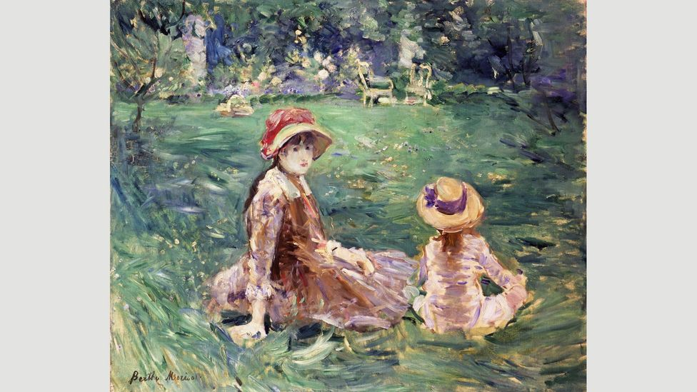 By the time of this painting, In The Garden at Maurecourt (1884), Morisot was recognised as a central figure in the Impressionist group (Credit: Toledo Museum of Art)