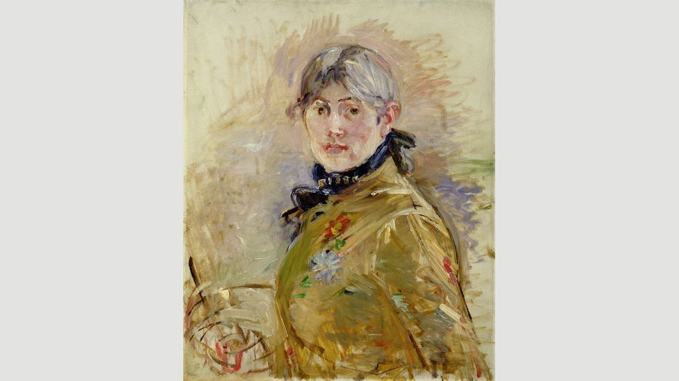 Morisot's art, such as Self-Portrait (1885), was praised for its 'feminine vision'; her male peers were hailed as 'original' or 'vigorous' (Credit: Musée Marmottan Monet)