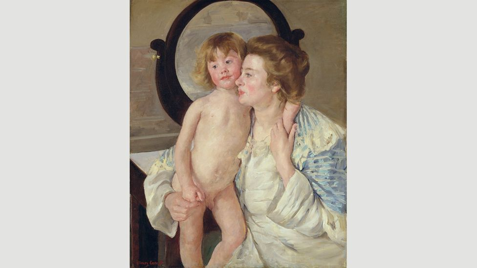 "Degas called Cassatt's Mother and Child (The Oval Mirror) (1899) ""the greatest painting of the 19th Century"" (Credit: RMN-Grand Palais / Image of the MMA)"