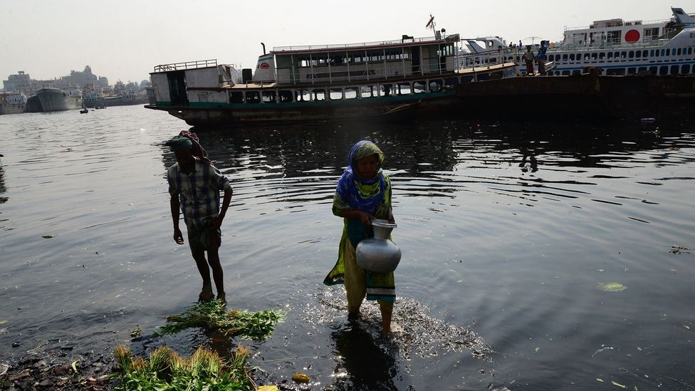 Malnourished children may also be more likely to drink polluted water, leading to infection and illness (Credit: Getty Images)