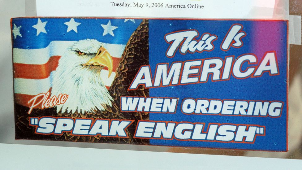 This sign hung in a Philadelphia restaurant in 2006 (Credit: Getty Images)