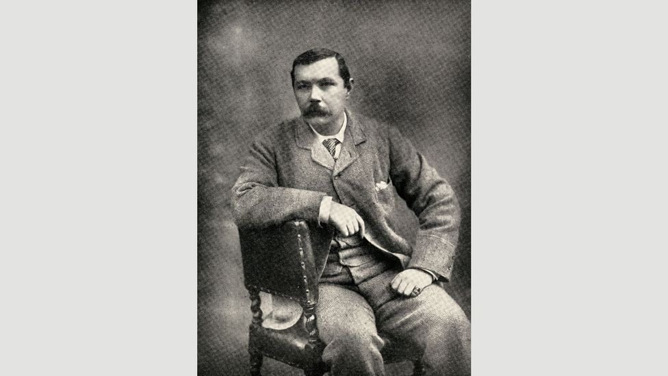 Conan Doyle, seen here around 1900, got involved in the effort to exonerate George Edalji as he thought Edalji was a victim of a racist frame-up (Credit: Getty Images)