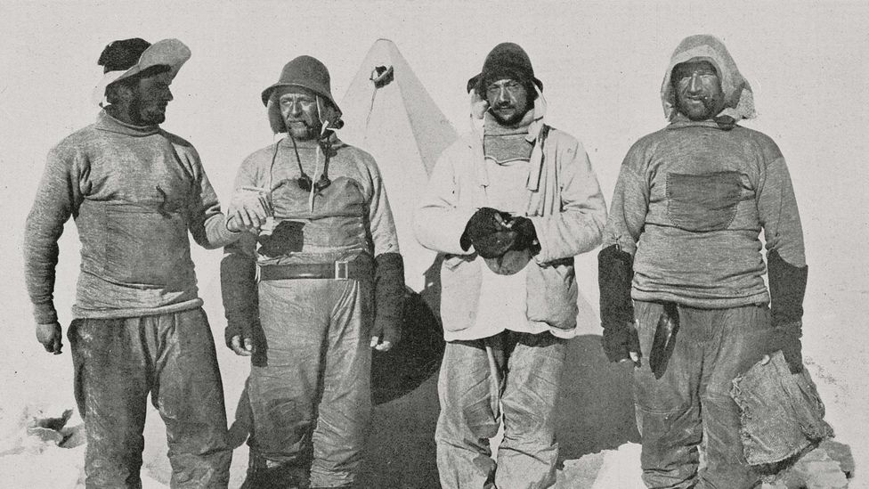 Members of the ill-fated British expedition to the pole (Credit: Getty Images)