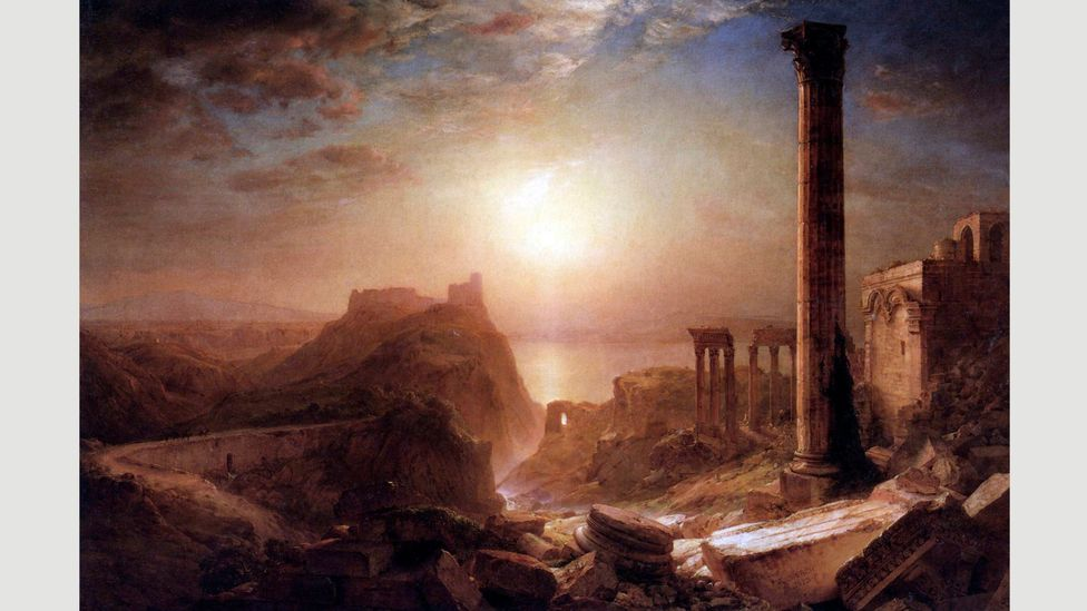 European Romantics also made ruins their subject at times – Frederic Edwin Church painted these Roman ruins in Syria in 1860 (Credit: Getty Images)