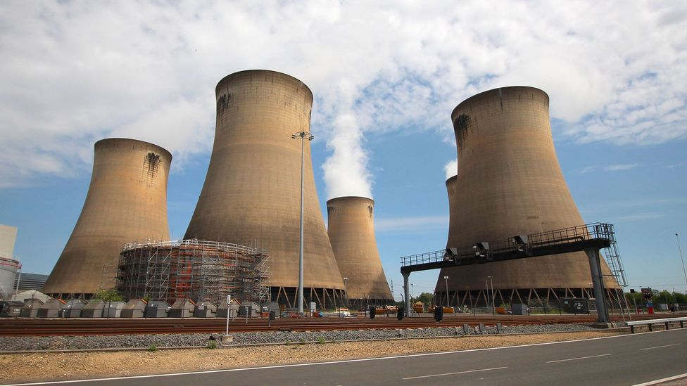 The owners of the Drax power plant in the UK aim to stop burning coal by 2023. But is the alternative fuel - biomass - any greener? (Credit: Chris Baraniuk)