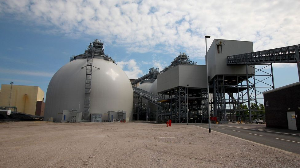 The conversion of the Drax powerplant - from coal to biomass - cost £700m (Credit: Chris Baraniuk)