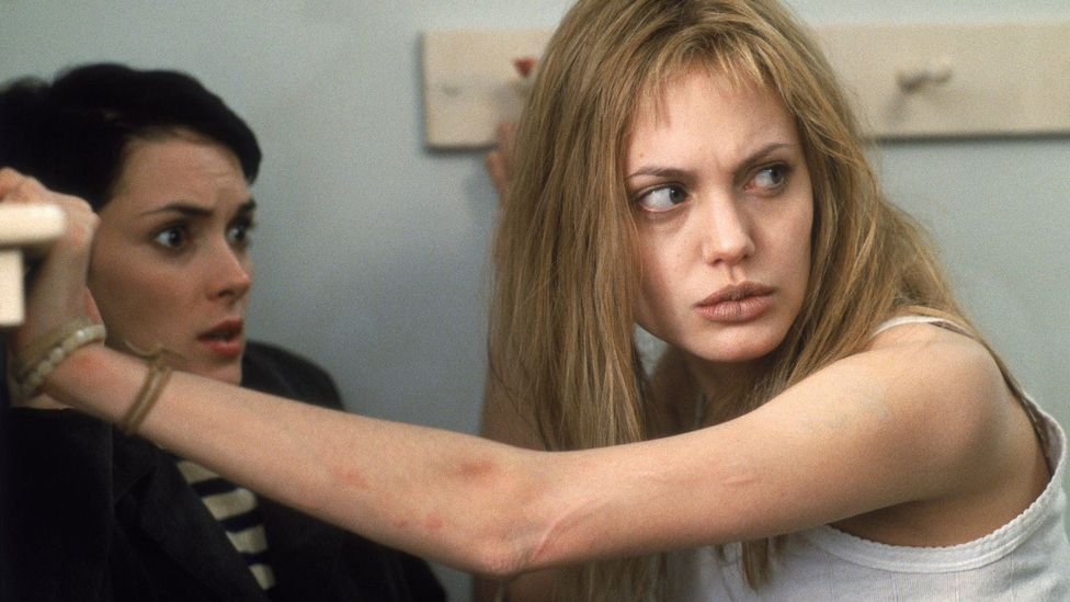 Angelina Jolie received an Academy Award, along with many other honours, for her performance as a woman diagnosed as being a 'sociopath' in Girl, Interrupted (Credit: Sony)