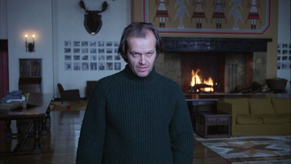 Many depictions of aggressive psychosis tend to perpetuate the idea that mental illness results in extreme, and scary, behaviour, as in The Shining  (Credit: Warner Bros)