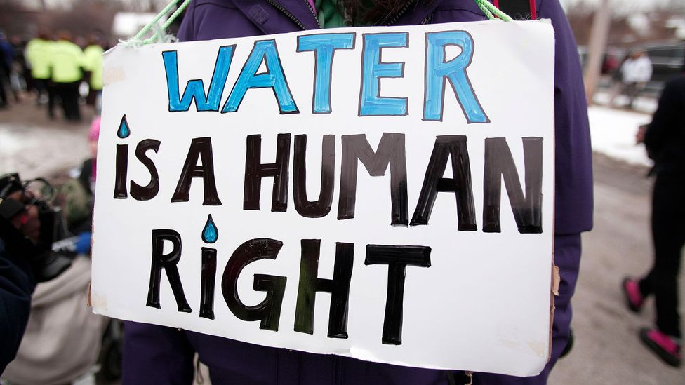 The concerns over water quality in Flint, Michigan sparked widespread protests (Credit: Getty Images)