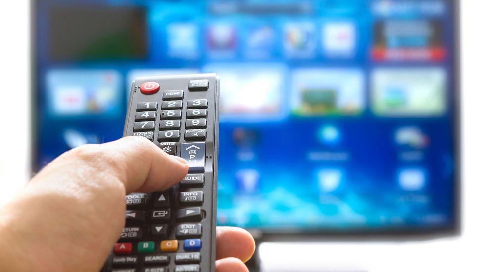 TV remote and set (Credit: Alamy)