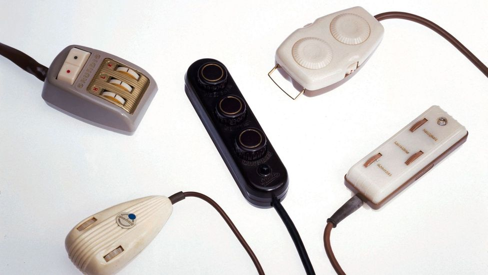 Early remotes often only had a few buttons - a far cry from today's designs (Credit: Alamy)