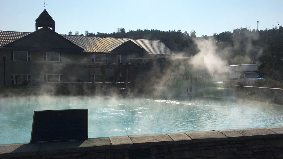 Since 1982, the hot springs have been used to provide heat to buildings in downtown Pagosa Springs (Credit: Daliah Singer)