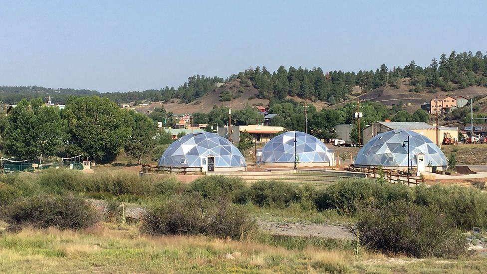 The project's three greenhouses use geothermal energy to help grow plants even in Colorado's cold-weather months (Credit: Daliah Singer)