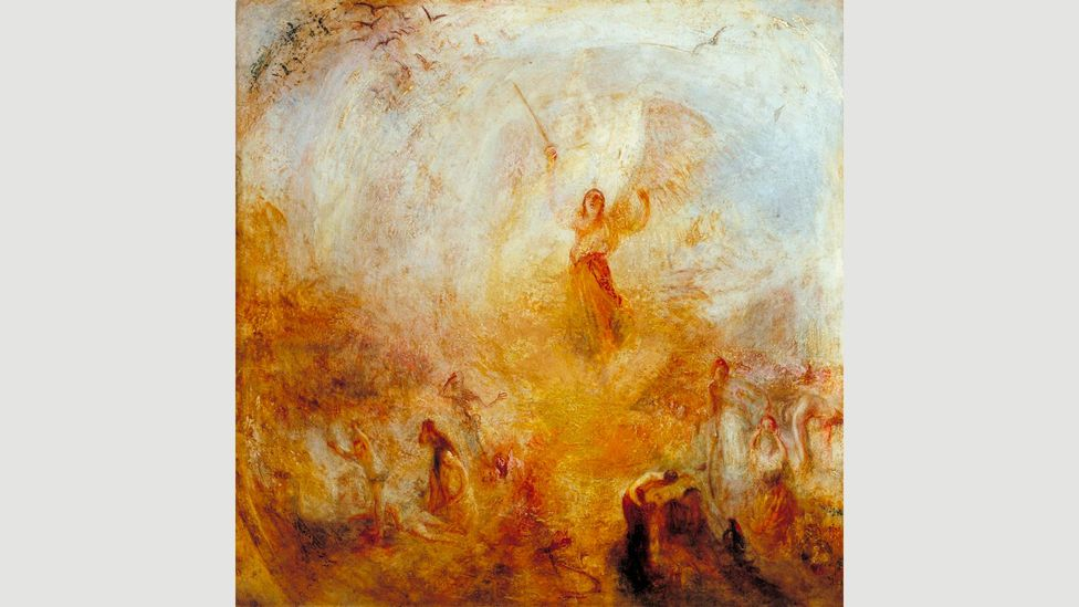 """JMW Turner took a dig at critics by showing The Angel Standing in the Sun (1846) with the lines """"the feastof vultures when the day is done"""" (Credit: Tate)"""