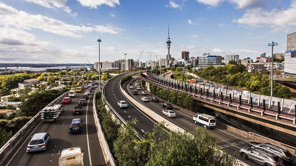 Auckland is known for its heavy traffic, although the city's infrastructure continues to improve (Credit: AsiaDreamPhoto/Alamy)