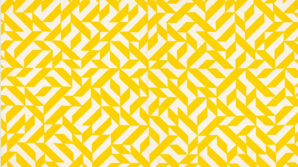 A silkscreen on woven fabric, Eclat, 1974, showcases Albers' bold use of colour (Credit: The Josef and Anni Albers Foundation/ Artists Rights Society ARS)