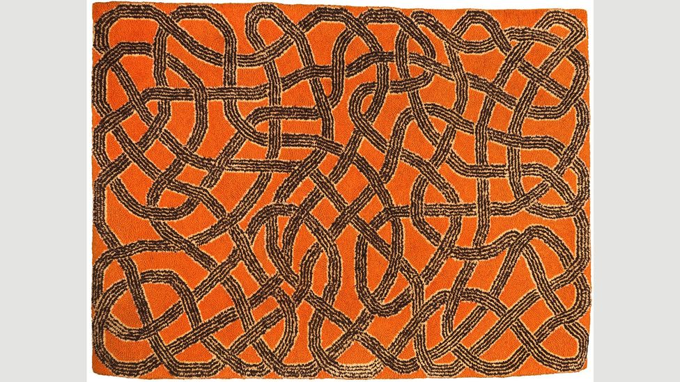 A wool, hand-woven rug by Albers, created in 1959, is one of the exhibits at the Tate exhibition (Credit: The Josef and Anni Albers Foundation/ Artists Rights Society ARS)