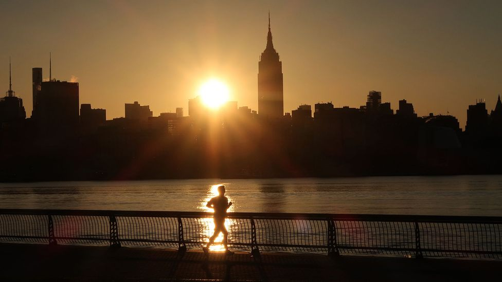 """Many people rise as day breaks to get in exercise or other chores and errands before work - these """"larks"""" might have inherited such traits (Credit: Getty Images)"""