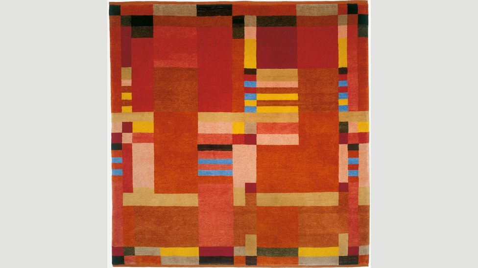 The designs of Gunta Stölzl have been reproduced on rugs made by Christopher Farr Cloth (Credit: Christopher Farr)
