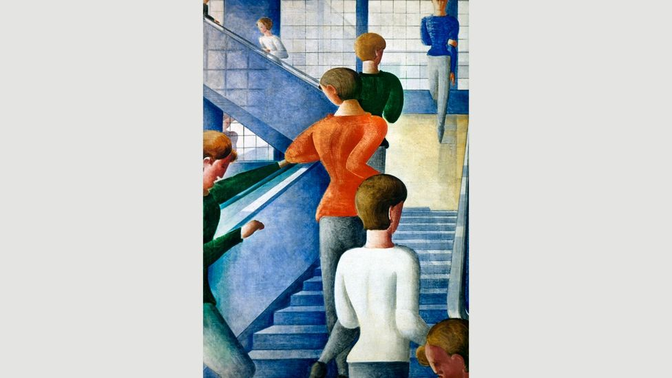Bauhaus Stairway, 1932, by Oskar Schlemmer depicts women climbing the stairs of the German design school (Credit: Alamy)