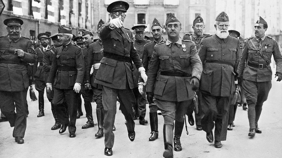 Generals Franco And Mola (Credit: Getty)