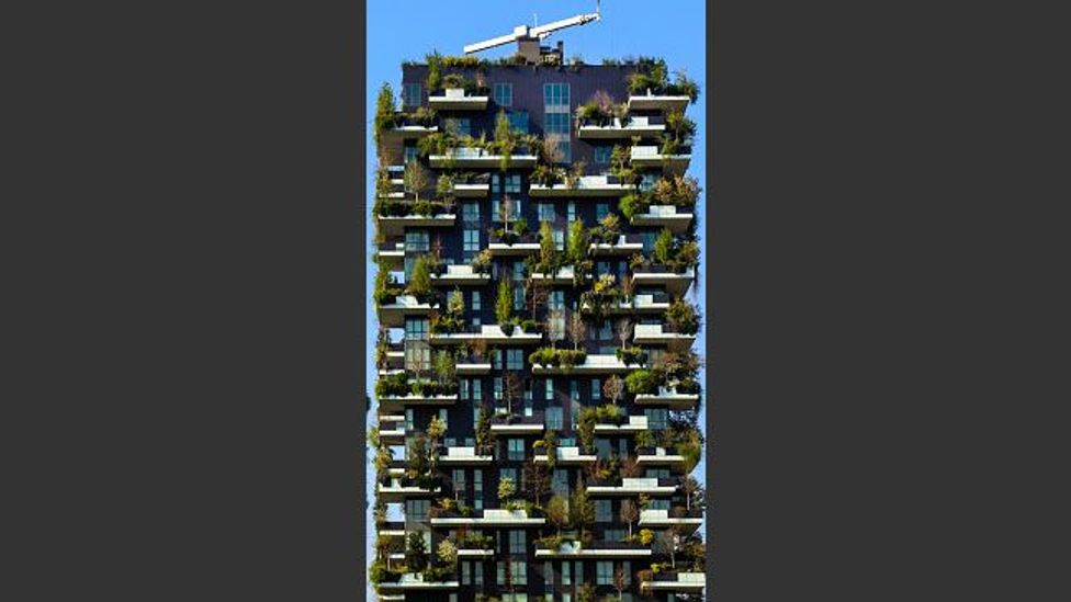 Bosco Verticale a living towerblock in Milan, Italy (Credit: Getty Images)