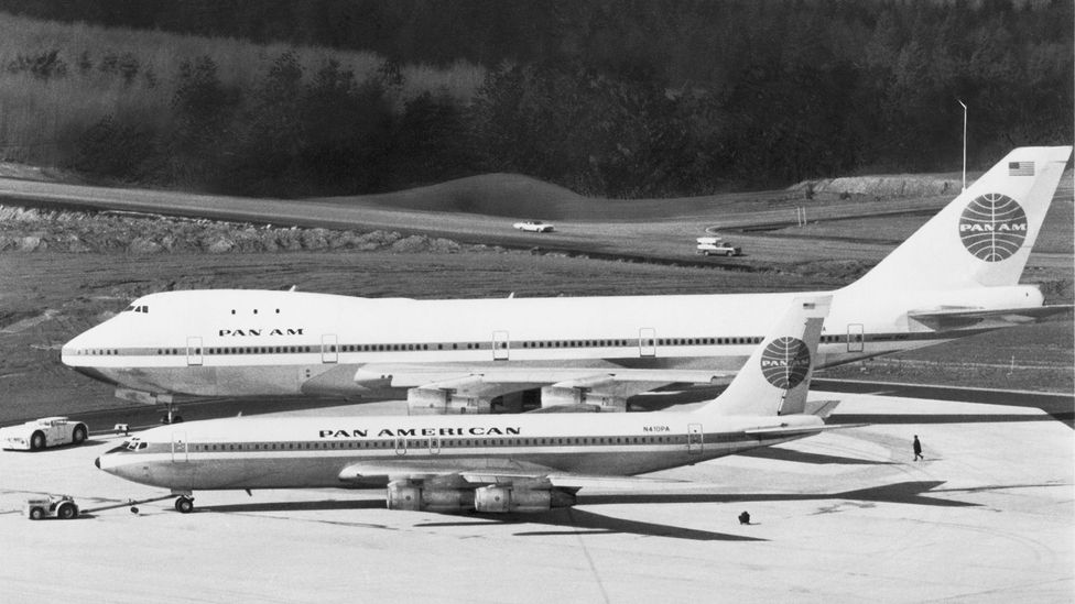 The 747 was built to be twice as big as its ancestor, the 707 (Credit: Getty Images)
