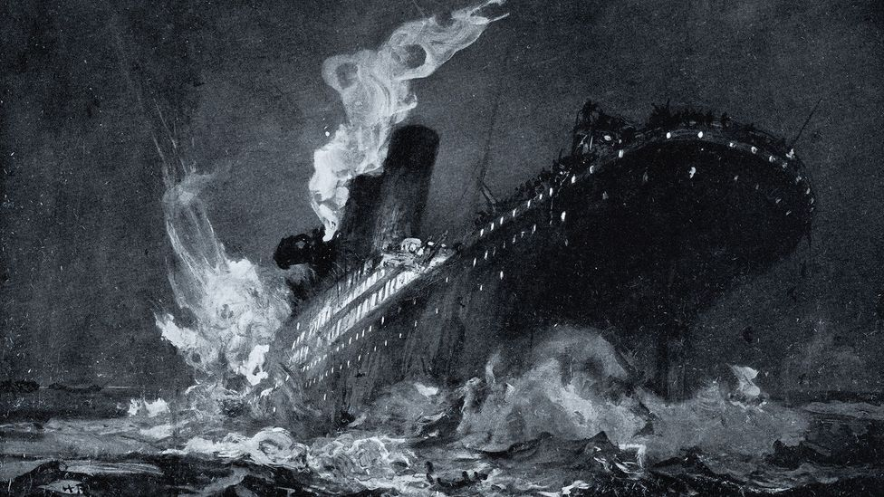 Painting of Titanic sinking (Credit: Getty Images)