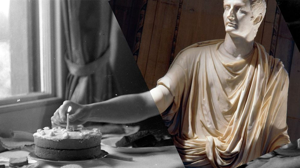The Roman emperor Tiberius died at the age of 77 – some accounts say by murder (Credit: BBC/Getty)